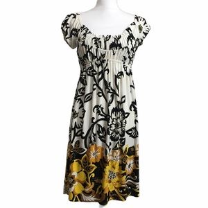 Boston Proper short sleeve floral dress. Sz 4